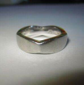 EDEL  Ring   Silber 925 TC Krone    4-eckig   massiv       Gr  54  / 17 mm