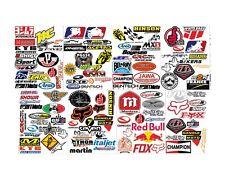 15 Random Vinyl Stickers Pack Motorcycle Racing Motocross Helmet Car Decals Lot