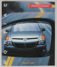Pontiac 2001 Firebird Bonneville Grand Prix Am Sunfire Aztek Sales Brochure