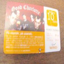 ricarica WIND rewind GOOD CHARLOTTE 10 euro 31 12 2008