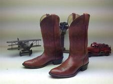 VINTAGE DAN POST MARLBORO BROWN LEATHER WESTERN COWBOY BOOTS SIZE 9.5 D