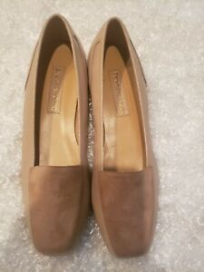 Enzo Angiolini Soft Leather Flats Loafers Tan Women's Size 7N