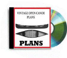 plywood canadian open canoe plans paddle motor mount sail mount vintage plans
