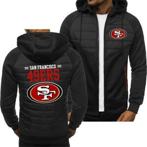 San Francisco 49 ers Fans Hoodie Sporty Jacket Zip up Coat Autumn Sweater Tops