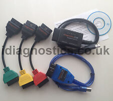 NEW ELM + KKL VAG OBD2 + ADAPTERS + DIAGNOSTIC CABLE ALFA FIAT MULTIECUSCAN