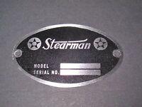 "Classic Stearman Aircraft DEA Required ""Aircraft Identification Data Plate"""