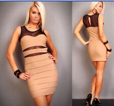 Womens Sexy Bandage Body con UK Cocktail Party Evening Dress