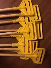 "Lot of 10 Rubbermaid Commercial Side Gate Wet Mop 60"" Long Wood Handles"
