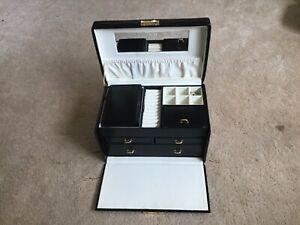 M&S Black Faux Leather Large Jewellry  Box