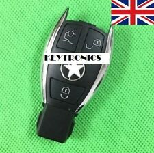 NEW For MERCEDES BENZ 3 BUTTON SMART KEY FOB REMOTE CHROME CASE & LOGO #A07*