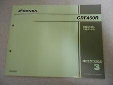 Parts CATALOGUE/list catalogo parti di Honda CRF 450 R (2,3) modello 2002 - 2003