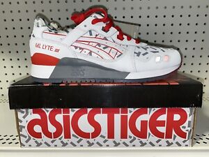Asics Gel-Lyte III G.I. Joe Storm Shadow Mens Athletic Shoes Size 9 White Red