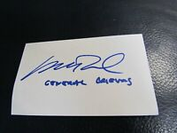 General Governor Matthew Wood Autographed Index Card 2