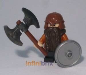 Lego Dwarf Warrior Minifigure Made from Genuine Lego Parts NEW cus121