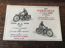 carte postale ancienne de moto N 4 paris nice 1926