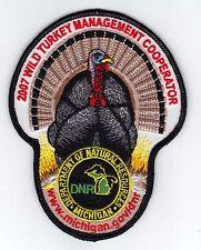 2007 MICHIGAN DNR SUCCESSFUL TURKEY HUNTER PATCH -DEER-TURKEY-ELK-MOOSE-FISHING