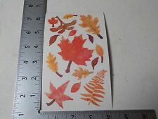 SANDYLION FALL LEAVES STICKERS SCRAPBOOKING NEW A2929