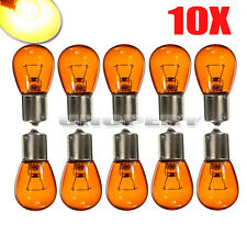 10X CAR 12V MOTORCYCLE AMBER ORANGE INDICATOR LIGHT LAMP BULBS PY21W BAU15S 581
