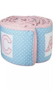 Baby Bumper Abc Blue Purple Four Pieces Discounted