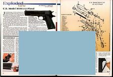 2001 U.S. Model M1911A1 Pistol Exploded View Parts List 2-pg Assembly Article