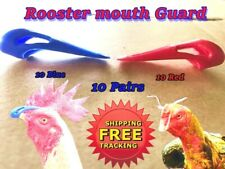 Rooster Mouth Guard Blue Red Protection Pecker Hen Gallos Rubber Gloves 10 Pairs