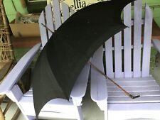 Signed S. Fox Paragon silver handle art nouveau antique umbrella/ parasol 1900s