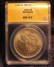 1921 Morgan Silver Dollar ANACS MS 63 Brilliant Luster