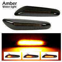 2/4 Smoke LED Side Marker Indicator Signal Light For BMW E90 E91 E92 E93 E60 E87