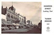 Tucson AZ Congress St. Stores State Theatre Movie Marquee RPPC Postcard