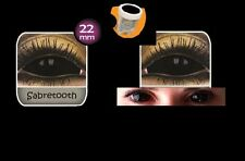 SCLERA BLACK paire lentille de couleur noir contact lens 22mm full eye integrale
