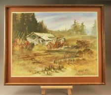 "Kathryn Kaye NW Artist, Large Original Watercolor, ""Time Past"". 32"" X 26"" Frame"