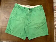 Abercrombie & Fitch Mens Lime Green Bright The Classic A&F Casual Shorts Size 30
