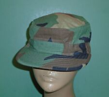 Us Military Issue Woodland Bdu Camouflage Hot Weather Patrol Hat Cap Sz 7-1/8