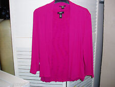 Pretty 2 Pc Hot Pink Short Sleeve Top & Light Matching Jacket, Marked Alfoni