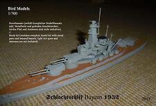 "Schlachtschiff  ""Bayern"" 1932   1/700 Bird Models  Resinbausatz / full resin kit"