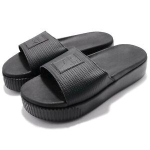 Puma Platform Slide Wns EP Strap Triple Black Women Sandal Slippers 366122-02