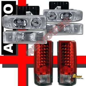 1995-2005 Chevy Astro Van Headlights & Bumper Signal & LED Tail Lights