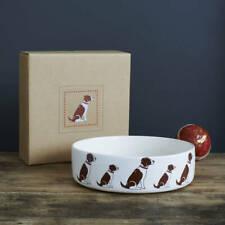 Sweet William Large Ceramic Dog Food Or Water Bowl SPRINGER SPANIEL Design