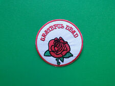 HEAVY METAL PUNK ROCK MUSIC SEW ON / IRON ON PATCH:- GRATEFUL DEAD (d) RED ROSE