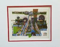 Friedensreich Hundertwasser Let Us Pray Manitou Wins A Matted offset Litho 1986