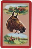 2 Single VINTAGE Swap//Playing Cards HUNT HORSE DOGS RIDER /'HUNTING HH-8-24/'