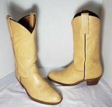 Men's Frye Western Tan Leather Cowboy Boots, Size 11 D