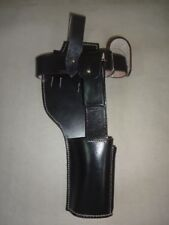 WWII German C96 Broomhandle Mauser Black Leather Holster Reproduction