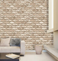 Brown Brick Contact Decorative Paper Countertop Cabinet Self Adhesive Wallpaper