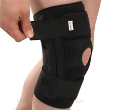 NEW Maximum Support Neoprene Knee Brace REMOVABLE Flexible Steel Stabilisers
