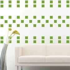 "4"" Set of 100 Light Green Squares Shape Wall Decal Vinyl Sticker Pattern Decor"