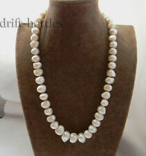 24'' 12mm-14mm Baroque white Freshwater Pearl Necklace