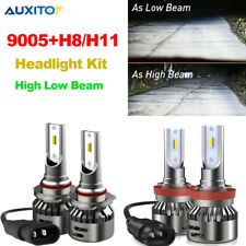 4X H11 H8 + 9005 LED Headlight Kit Hi Lo Beam Lamp CSP 6500K White Bulbs Lights