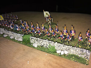 58 Painted 1/72 - 7 Years War Prussian Infantry Artillery & Command w Stone Wall
