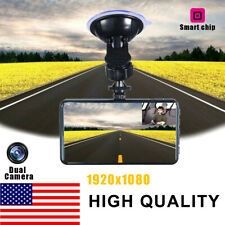 "4"" 1080P Dual Lens Car DVR Dash Cam Video Recorder Camera G-sensor Night Vision"
